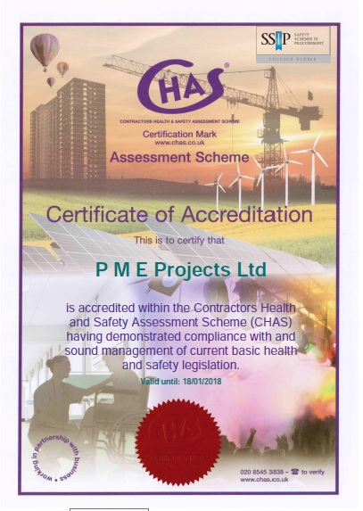 CHAS Compliant again for PME Projects